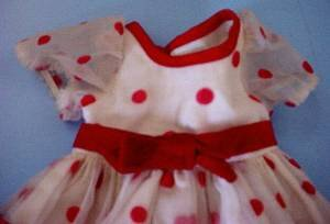 1972 Shirley Temple dress close