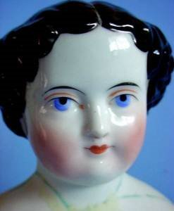 4 inch china head doll face