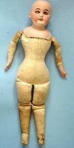 Kestner slim waist doll front