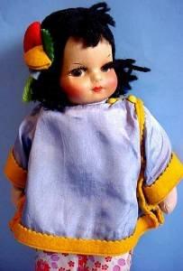 Oriental Mollyes or Georgene girl half