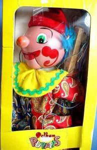 Pelham puppet Clown made in England face