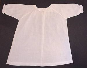 Simple vintage white baby gown full
