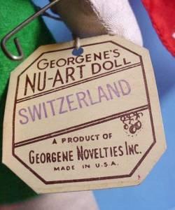 Tagged vintage Georgene Switzerland tag