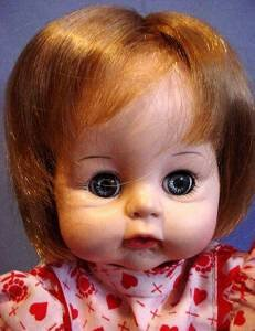 Vintage 1965 Madame Alexander 12 inch baby face