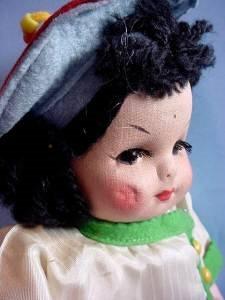 Vintage Georgene Oriental cloth girl right
