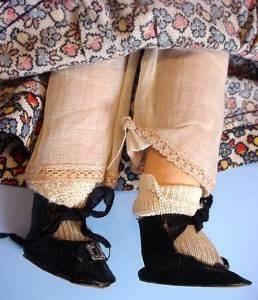 Vintage Mollyes girl feet