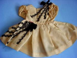 Vintage taffeta party dress full