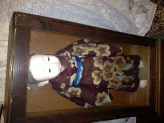 Antique japanese doll in a kimono for Asian antiques perth