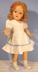 beauty white dress doll