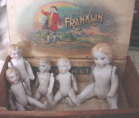 Ben Franklin cigar dolls