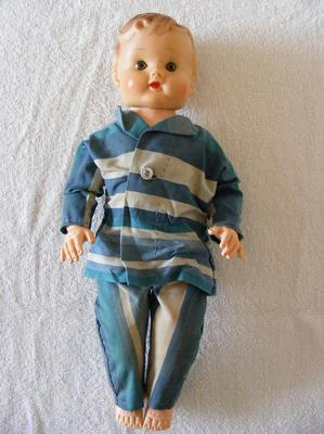 doll with cloths on