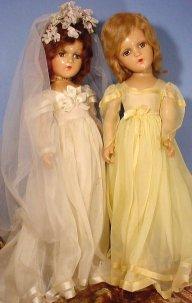 bride and bridesmaid doll