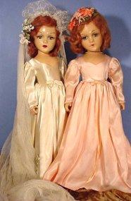 bride and bridesmaid dolls