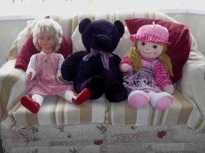 The dolls on the left
