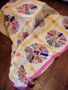 doll quilt bed cover front