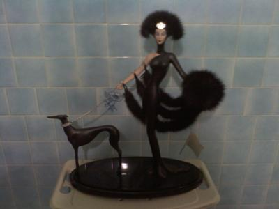 A Symphony in Black by Erte'