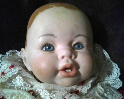 baby doll head close up