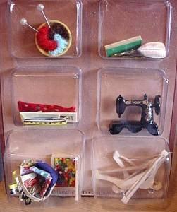 vintage miniature baskets