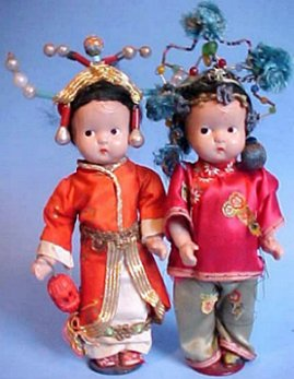 pair of chinese dolls
