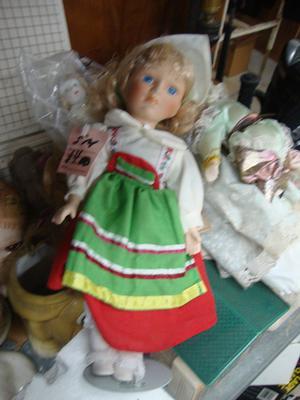 Dutch Boy and Girl Porcelain Dolls