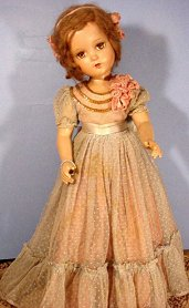 R and B doll blue gown