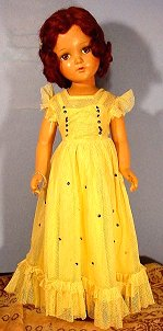 R and B doll yellow gown
