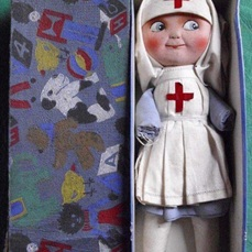 nurse doll and box