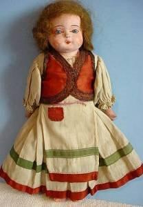 1 of 3 original papier mache doll 1