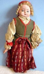 1 of 3 original papier mache doll 2