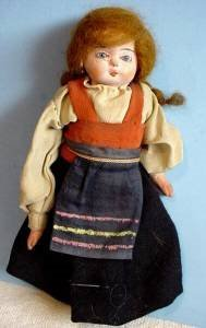 1 of 3 original papier mache doll 3