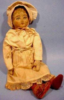 Bruckner girl doll in bonnet