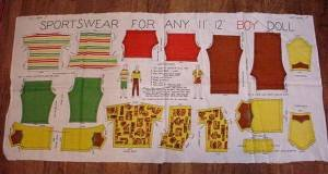 Three yards uncut clothes for dolls full