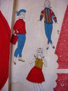 Three yards uncut clothes for dolls girls