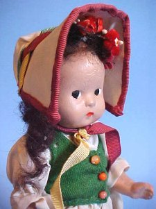 Vintage Compostion Girl Doll