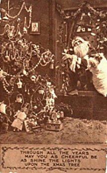 christmas-card with santa and doll
