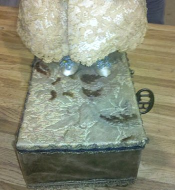 Vintage Box with a doll on top
