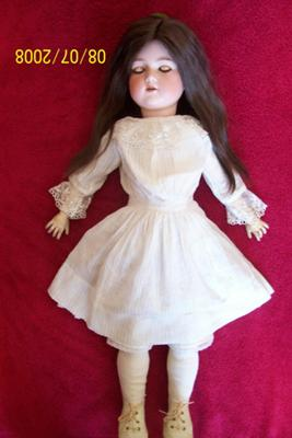 Antique Bisque Headed Doll