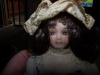 Doll's face made of porcelain